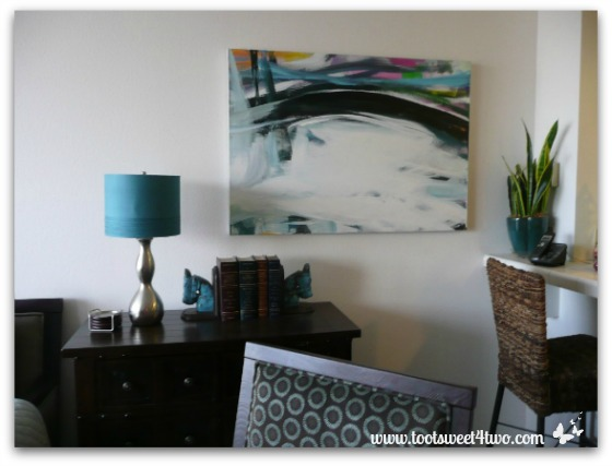 One of my dad's paintings in our condo living room