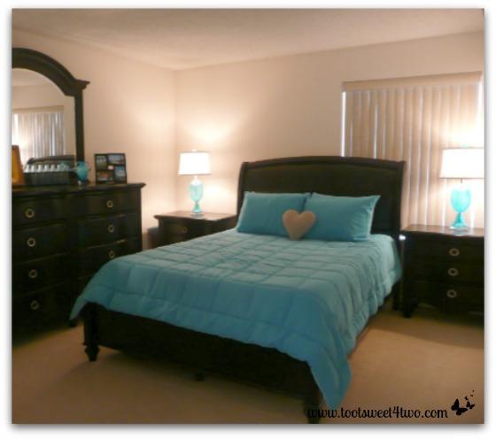 Our condo's guest bedroom