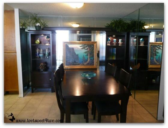 Our condo's kitchen nook