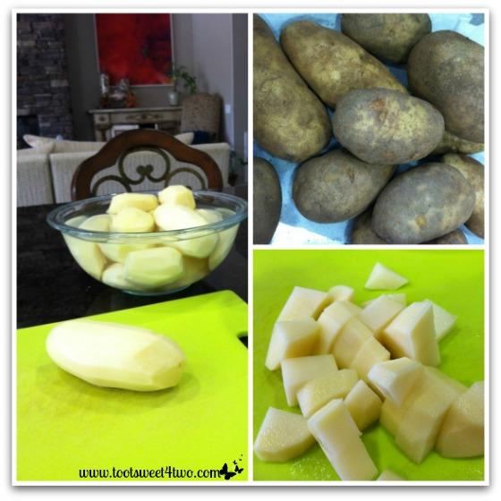 Preparing potatoes