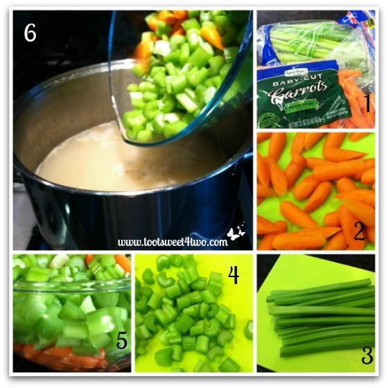 Preparing veggies for Turkey Soup