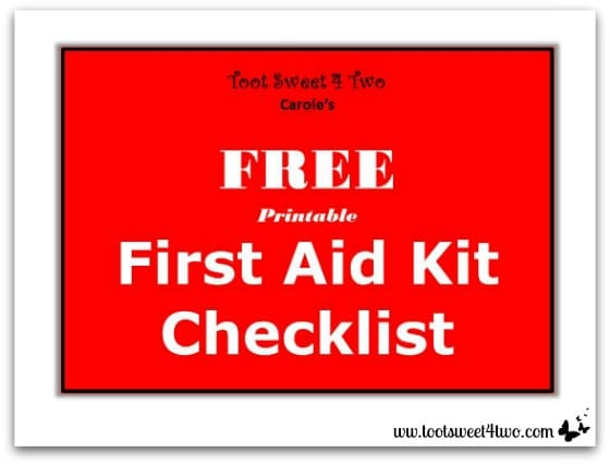 Printable First Aid Kit Checklist