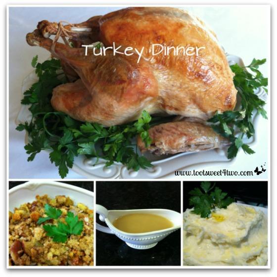Turkey Dinner collage