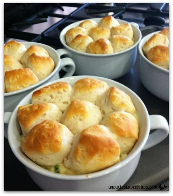 Turkey Pull-Apart Pot Pie out of the oven