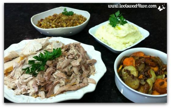 Turkey dinner ready to serve