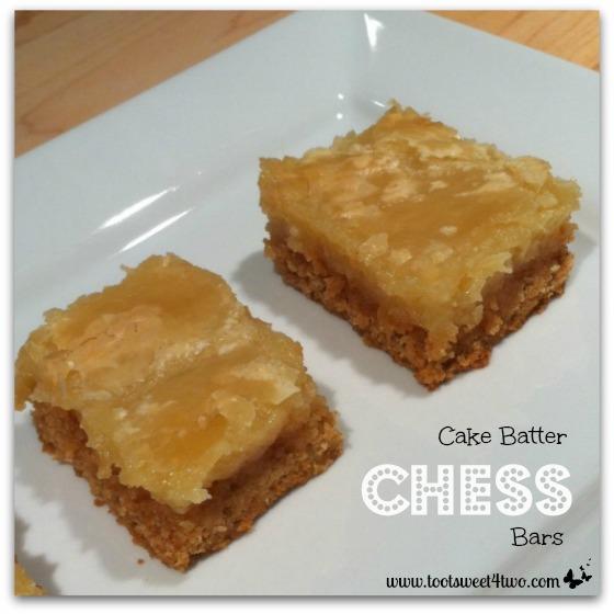 2 Cake Batter Chess Bars
