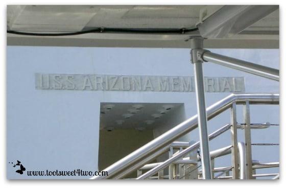 Arriving at the USS Arizona Memorial