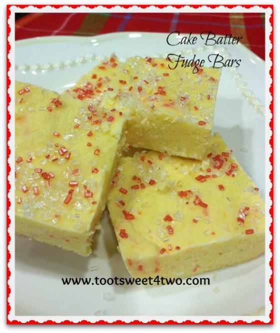 Cake Batter Fudge Bars