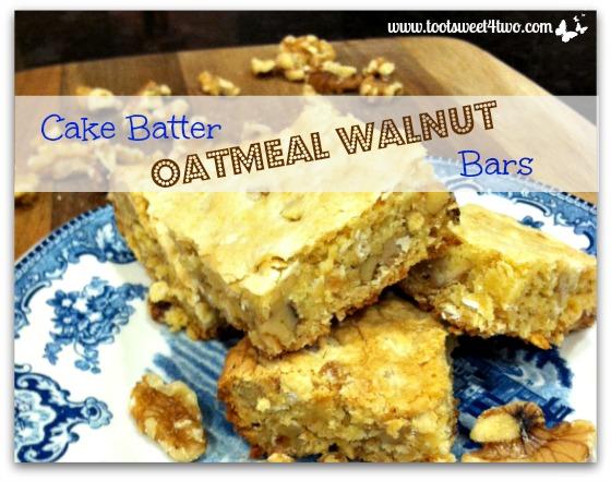 Cake Batter Oatmeal Walnut Bars cover