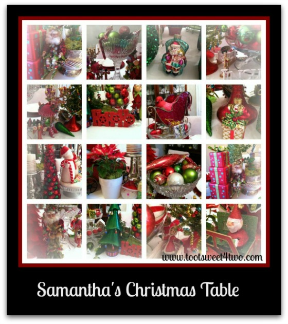 Christmas decor on Samantha's Christmas Table