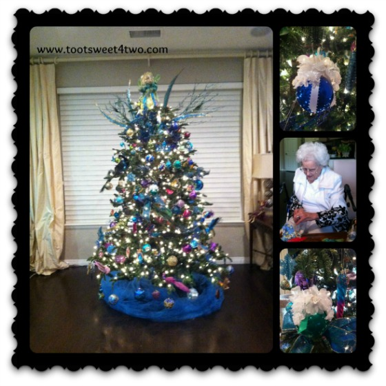 Mom and our Christmas Tree