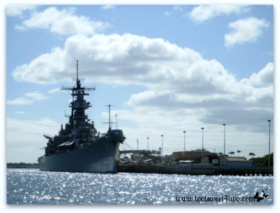Navy ship in Pearl Harbor