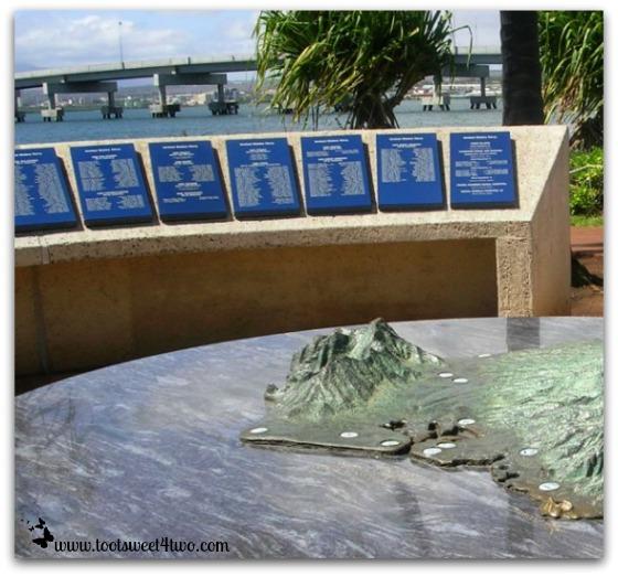 Pearl Harbor 3-dimensional map
