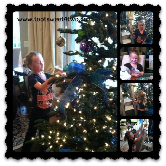 Princess P decorating the tree