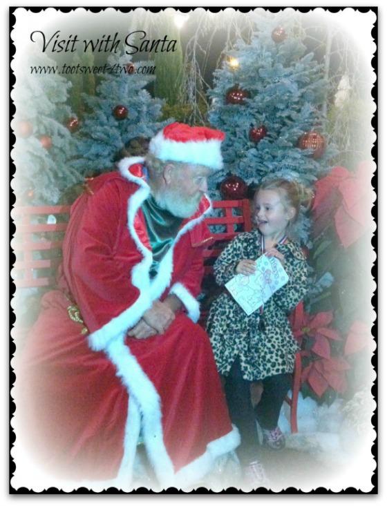 Princess P visits Santa
