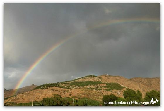 Rainbow outside the front door