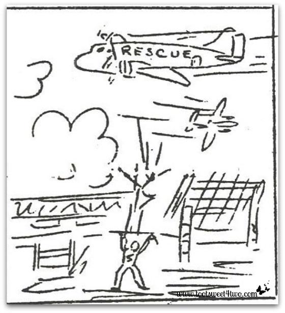 Rescue planes at Los Banos