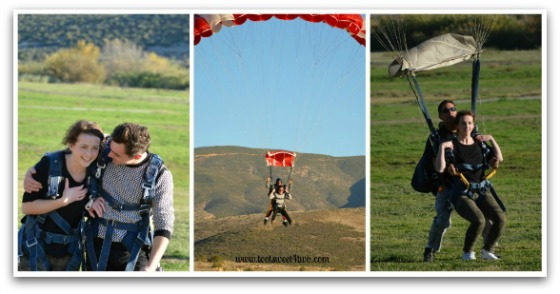 Ali and Bert Skydiving - 42 Things to do in San Diego