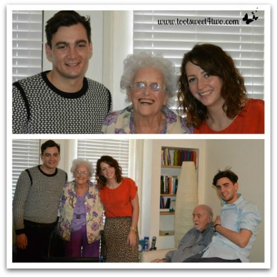 Bert, Ali, Sam with Jo and Chuck - January 2013 - Ties That Bind