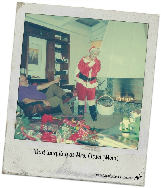 Dad laughing at Mrs. Claus - Requiem for My Father