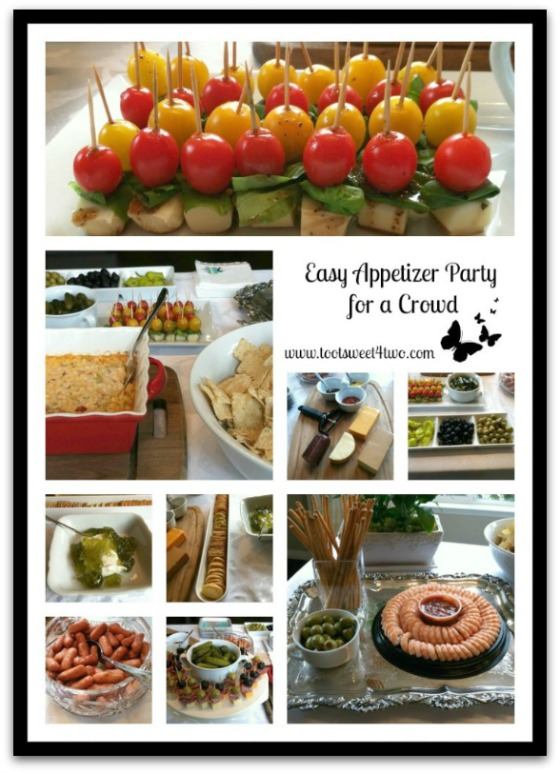 Easy Appetizer Party for a Crowd food collage