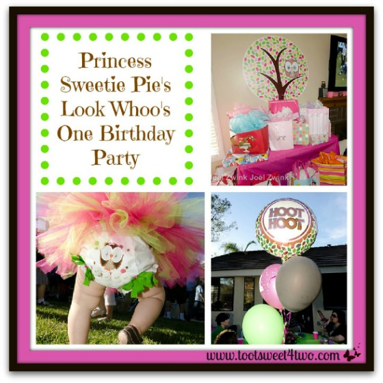 Princess Sweetie Pie's Look Whoo's One Birthday Party