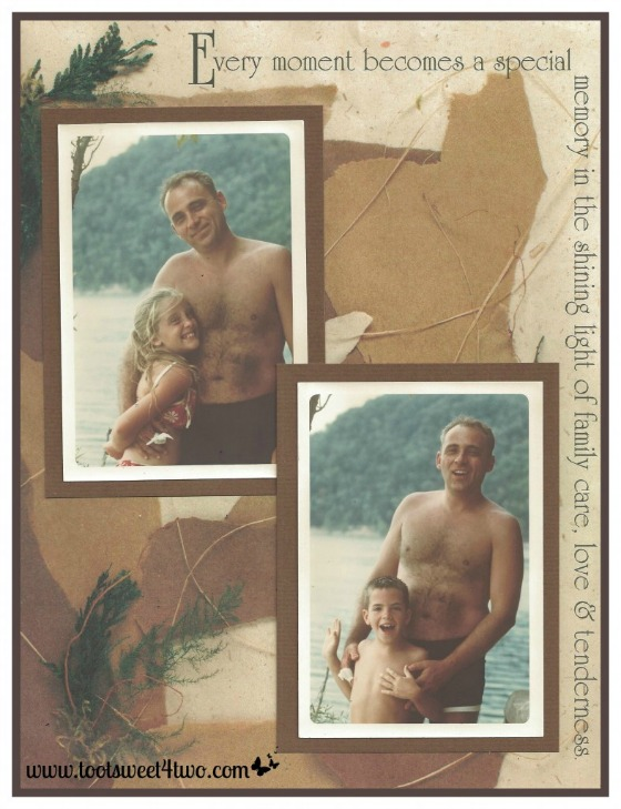 Scrapbook camping pages - The Family Man