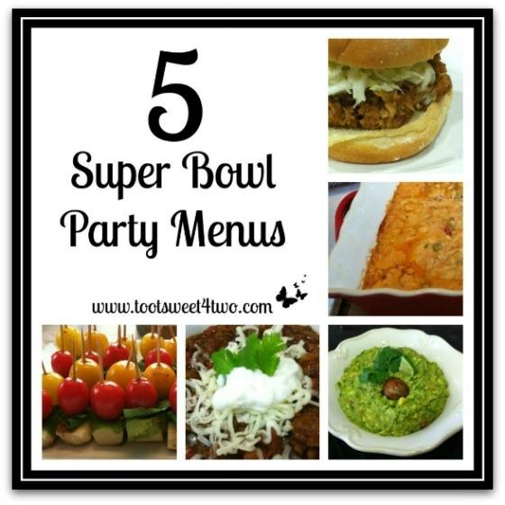 5 Super Bowl Party Menus cover