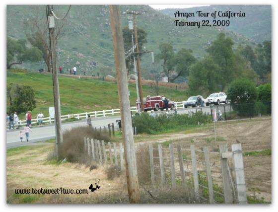 Amgen Tour of California - neighbors gathering