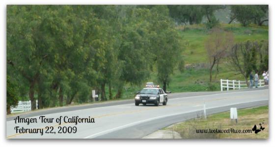 Amgen Tour of California - police car
