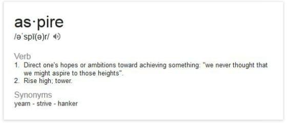 Aspire definition