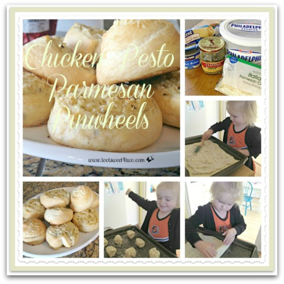 Chicken Pesto Parmesan Pinwheels tutorial
