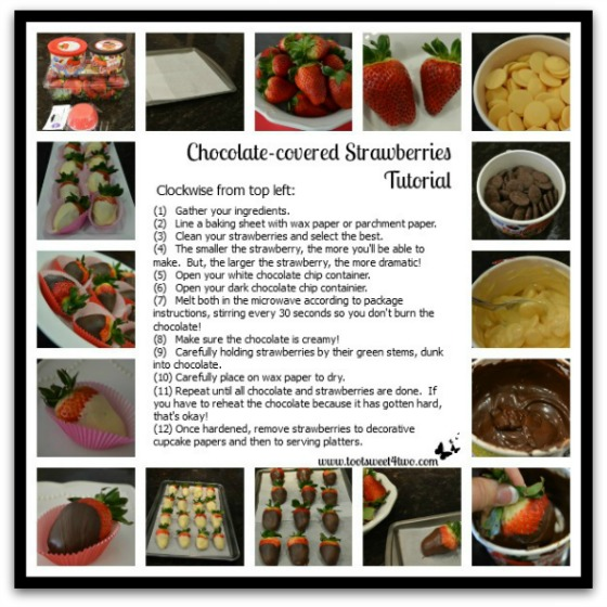 Chocolate-covered Strawberries tutorial