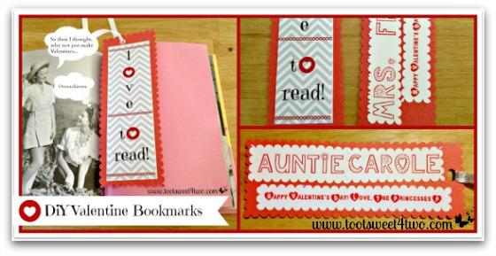 DIY Valentine Bookmarks collage