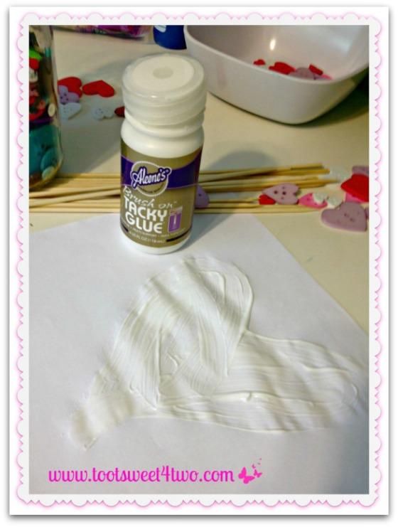 DIY Valentine Heart Plaque - Step 1