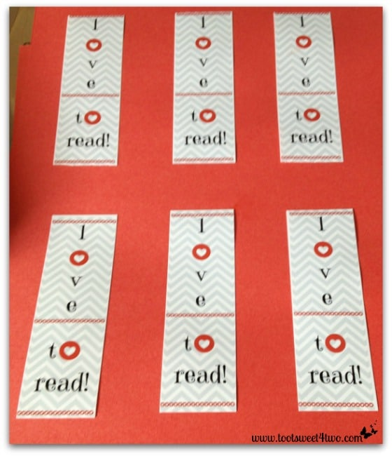 I Love to Read bookmark cut-outs