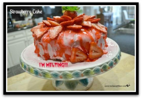 Melting Strawberry Cake