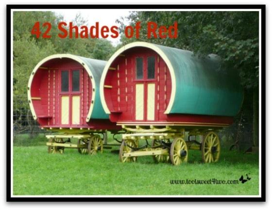 Red Irish Gypsy wagons - 42 Shades of Red