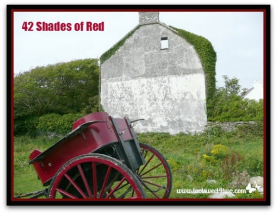 Red Irish wagon on Inis Mor - 42 Shades of Red