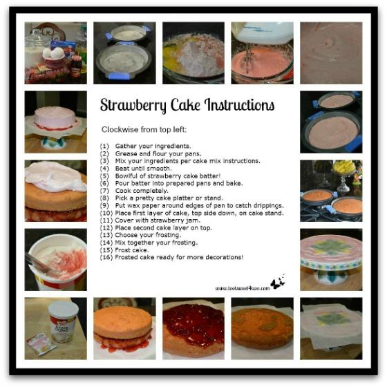 Strawberry Cake tutorial