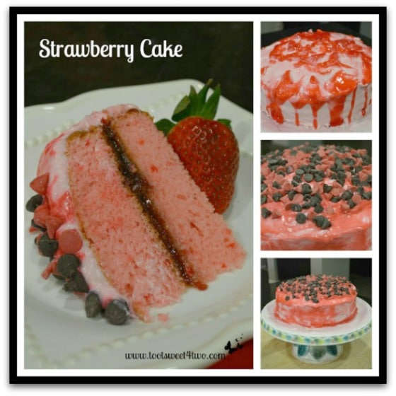 Strawberry Cake with Chocolate Chips