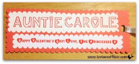 Valentine's bookmark for Auntie Carole