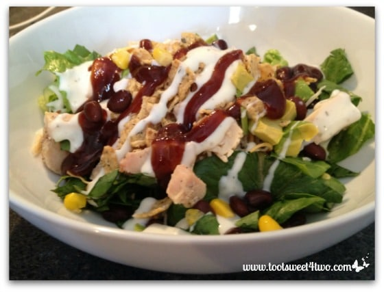 BBQ Chicken Salad with dressing