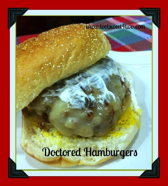 Doctored Hamburger with mayonnaise