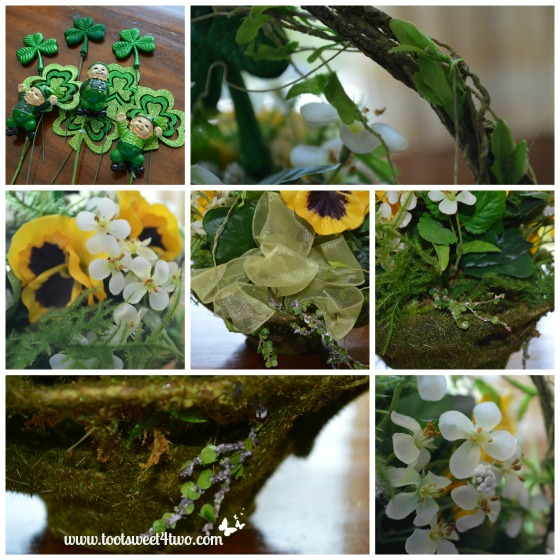Close-ups of Moss-covered basket