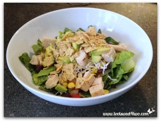 Making BBQ Chicken Salad