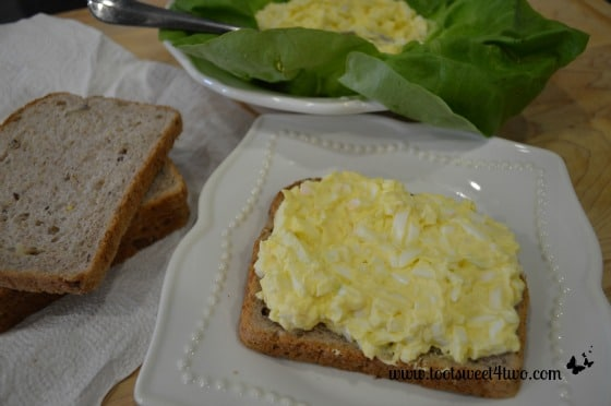 Making Egg Salad Sandwiches