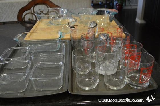 More glass containers
