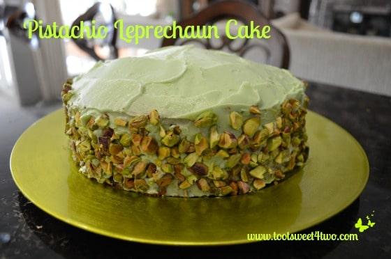 Pistachio Leprechaun Cake