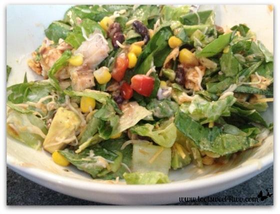 Tossed BBQ Chicken Salad